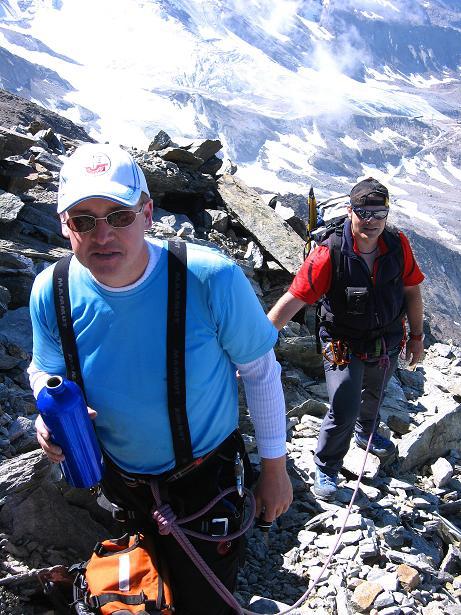 Foto: Andreas Koller / Wander Tour / Lagginhorn (4010 m) / Am W-Grat / 12.09.2009 15:42:08