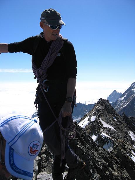 Foto: Andreas Koller / Wander Tour / Lagginhorn (4010 m) / Am Gipfel des Lagginhorn / 12.09.2009 15:41:42