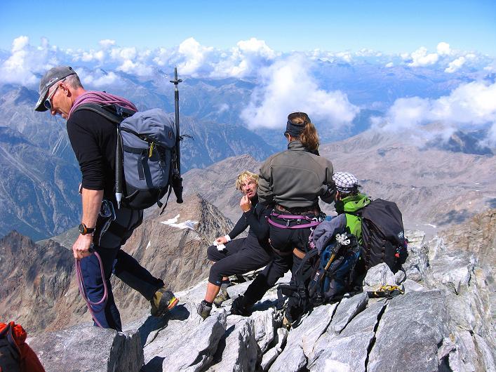Foto: Andreas Koller / Wander Tour / Lagginhorn (4010 m) / 12.09.2009 15:40:56