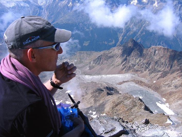 Foto: Andreas Koller / Wander Tour / Lagginhorn (4010 m) / 12.09.2009 15:39:53