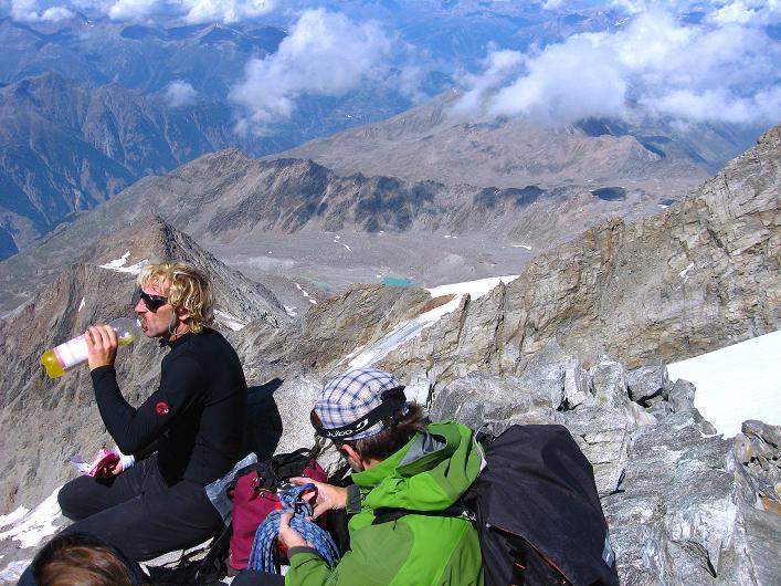 Foto: Andreas Koller / Wander Tour / Lagginhorn (4010 m) / 12.09.2009 15:39:16