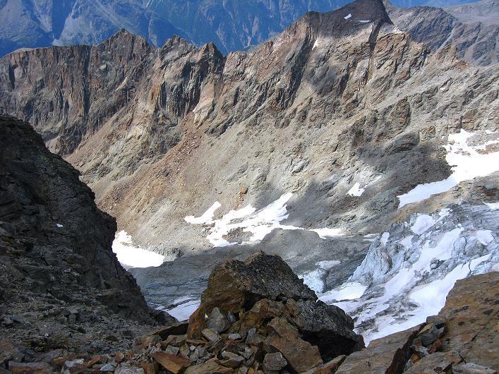 Foto: Andreas Koller / Wander Tour / Lagginhorn (4010 m) / Abstieg vom Lagginhorn / 12.09.2009 15:37:41