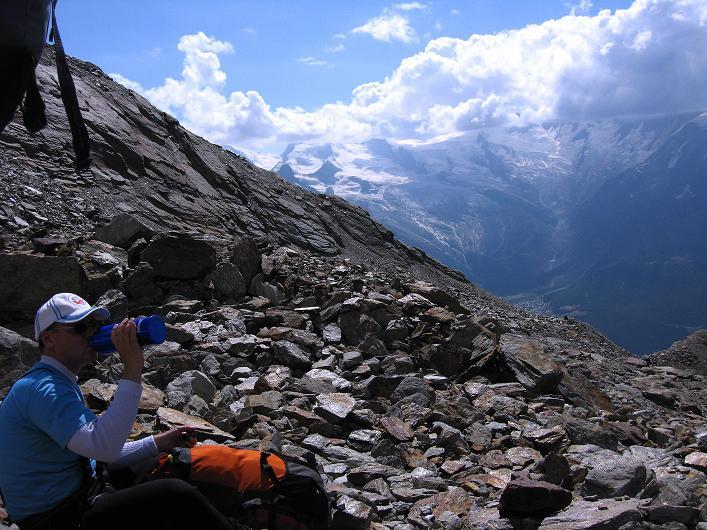 Foto: Andreas Koller / Wander Tour / Lagginhorn (4010 m) / 12.09.2009 15:37:26