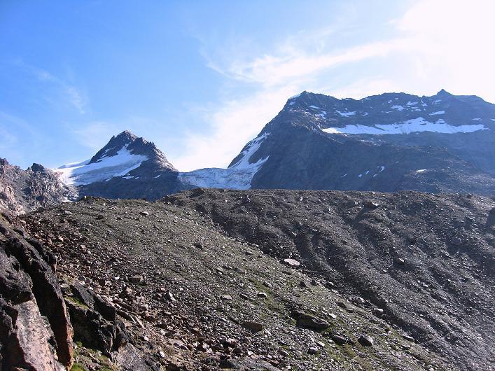 Foto: Andreas Koller / Wander Tour / Lagginhorn (4010 m) / Fletschhorn (3996 m) und Lagginhorn / 12.09.2009 15:33:34
