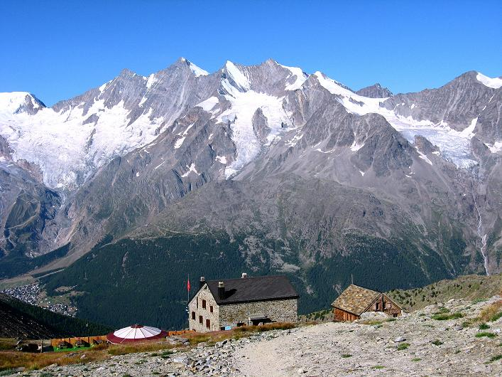 Foto: Andreas Koller / Wander Tour / Lagginhorn (4010 m) / Die Weißmieshütten / 12.09.2009 15:33:08