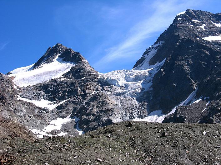 Foto: Andreas Koller / Wander Tour / Lagginhorn (4010 m) / Fletschhorn (3996 m) und Lagginhorn / 12.09.2009 15:32:41