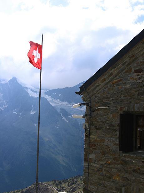 Foto: Andreas Koller / Wander Tour / Lagginhorn (4010 m) / Bei den Weißmieshütten / 12.09.2009 15:31:58