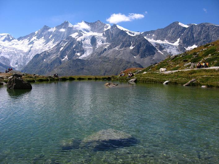 Foto: Andreas Koller / Wander Tour / Lagginhorn (4010 m) / See beim Kreuzboden / 12.09.2009 15:30:27
