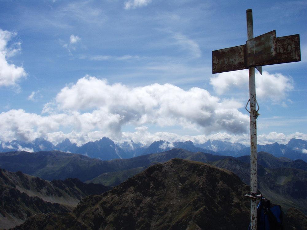 Foto: Grasberger Gerhard / Wander Tour / Riepenspitze - Villgratental / Am Gipfel der Riepenspitze mit Blick in südl. Richtung / 31.08.2009 09:36:27