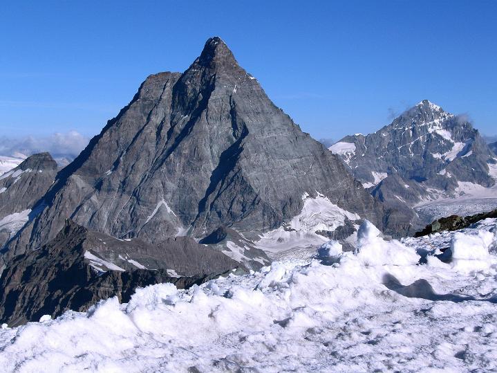 Foto: Andreas Koller / Wander Tour / Roccia Nera (4075m) - östlicher Eckpfeiler des Breithornkamms / 08.09.2009 19:57:19