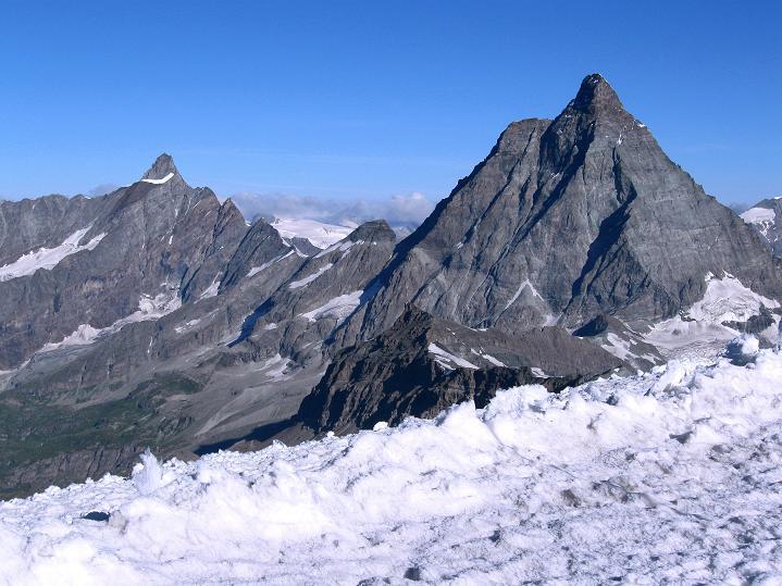 Foto: Andreas Koller / Wander Tour / Roccia Nera (4075m) - östlicher Eckpfeiler des Breithornkamms / 08.09.2009 19:57:01
