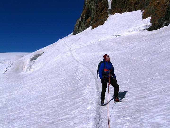 Foto: Andreas Koller / Wander Tour / Roccia Nera (4075m) - östlicher Eckpfeiler des Breithornkamms / 08.09.2009 19:55:57