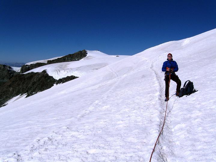 Foto: Andreas Koller / Wander Tour / Roccia Nera (4075m) - östlicher Eckpfeiler des Breithornkamms / 08.09.2009 19:55:42