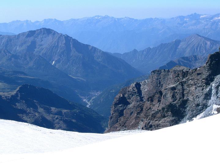 Foto: Andreas Koller / Wander Tour / Roccia Nera (4075m) - östlicher Eckpfeiler des Breithornkamms / 08.09.2009 19:55:36