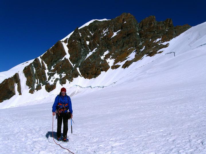 Foto: Andreas Koller / Wander Tour / Roccia Nera (4075m) - östlicher Eckpfeiler des Breithornkamms / 08.09.2009 19:54:22