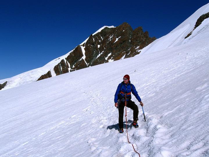 Foto: Andreas Koller / Wander Tour / Roccia Nera (4075m) - östlicher Eckpfeiler des Breithornkamms / 08.09.2009 19:53:58