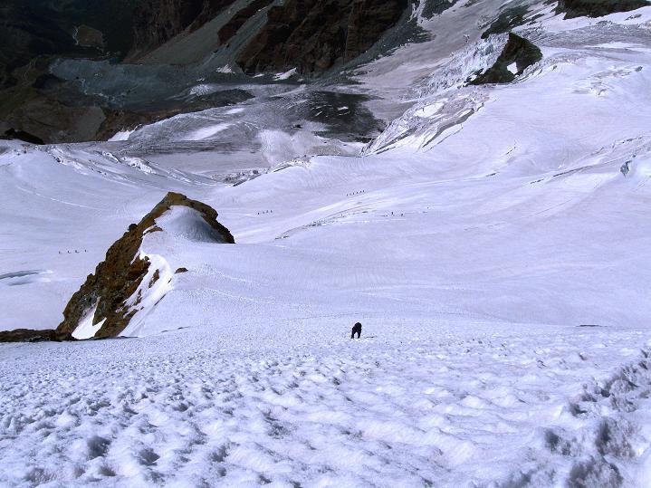 Foto: Andreas Koller / Wander Tour / Roccia Nera (4075m) - östlicher Eckpfeiler des Breithornkamms / 08.09.2009 19:53:45