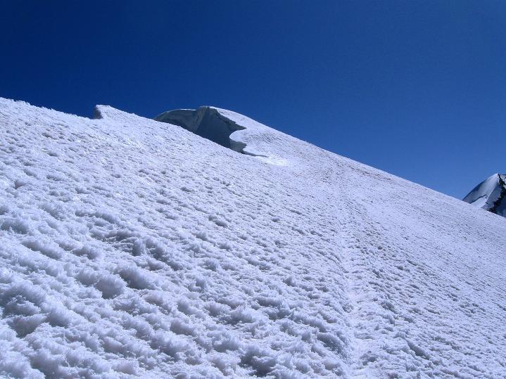 Foto: Andreas Koller / Wander Tour / Roccia Nera (4075m) - östlicher Eckpfeiler des Breithornkamms / Gipfelgrat / 08.09.2009 19:53:35