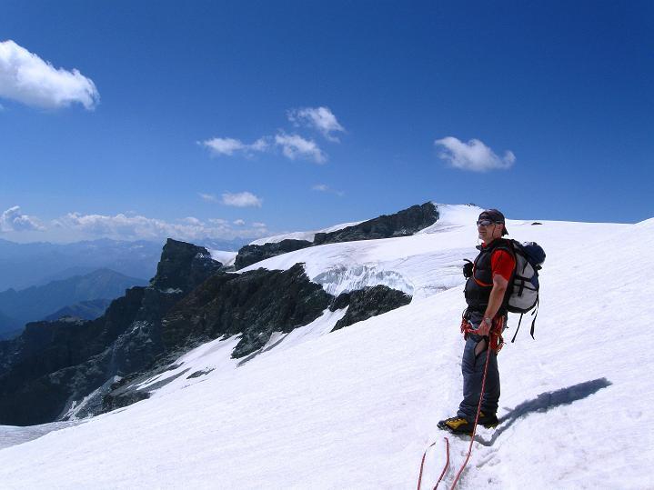 Foto: Andreas Koller / Wander Tour / Roccia Nera (4075m) - östlicher Eckpfeiler des Breithornkamms / 08.09.2009 19:46:33