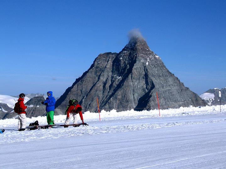 Foto: Andreas Koller / Wander Tour / Pollux (4092 m) / Matterhorn (4478 m) / 04.09.2009 11:10:27