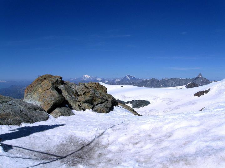Foto: Andreas Koller / Wander Tour / Pollux (4092 m) / Blick über die Gobba di Rollin (3899 m) / 04.09.2009 11:03:15