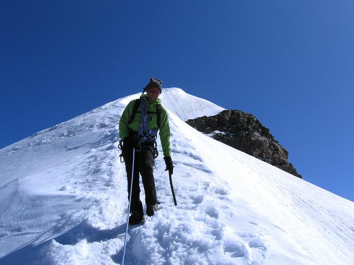Foto: Andreas Koller / Wander Tour / Pollux (4092 m) / Am Firngrat zum Pollux / 04.09.2009 11:02:54