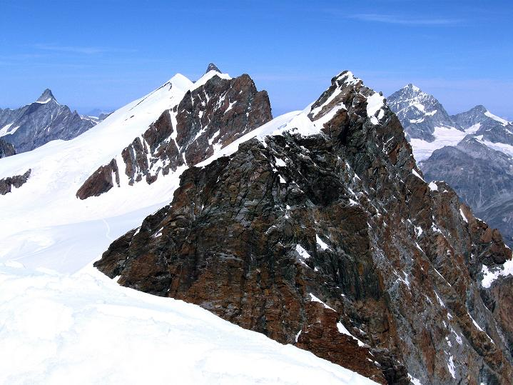 Foto: Andreas Koller / Wander Tour / Pollux (4092 m) / Breithorn-Kamm (4165 m) / 04.09.2009 11:00:20