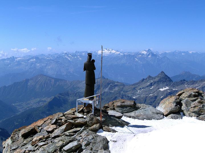 Foto: Andreas Koller / Wander Tour / Pollux (4092 m) / Zurück bei der italienischen Madonna-Statue / 04.09.2009 10:56:34