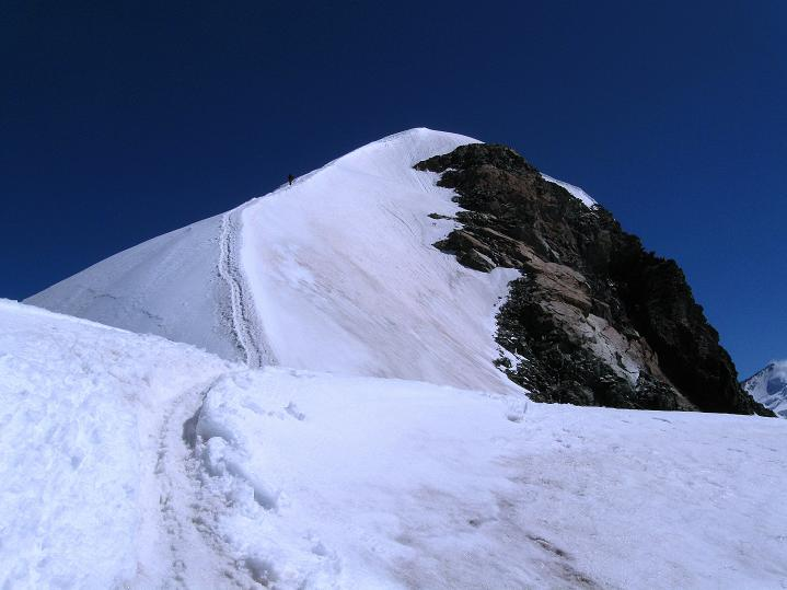 Foto: Andreas Koller / Wander Tour / Pollux (4092 m) / Pollux Firngrat zum Gipfel / 04.09.2009 10:56:10