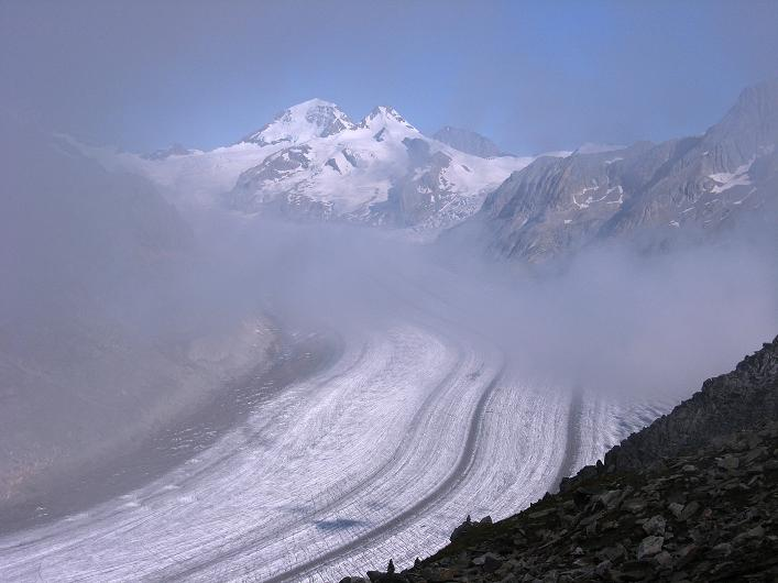 Foto: Andreas Koller / Klettersteig Tour / Klettersteig Eggishorn (2927m) / Aletschgletscher / 13.09.2009 15:52:44
