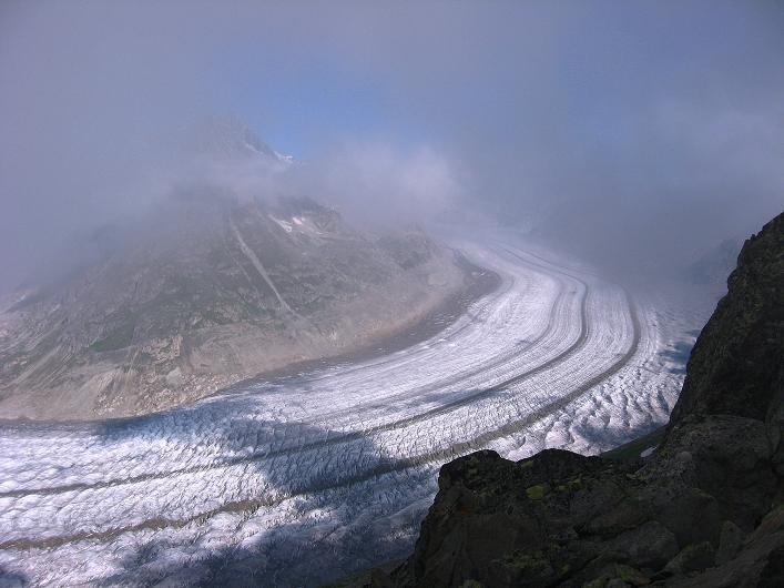 Foto: Andreas Koller / Klettersteig Tour / Klettersteig Eggishorn (2927m) / Aletschgletscher / 13.09.2009 15:52:13