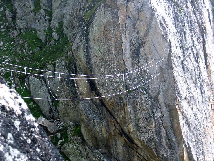 Foto: Andreas Koller / Klettersteig Tour / Klettersteig Eggishorn (2927m) / Die Dreiseil-Brücke / 13.09.2009 15:49:43