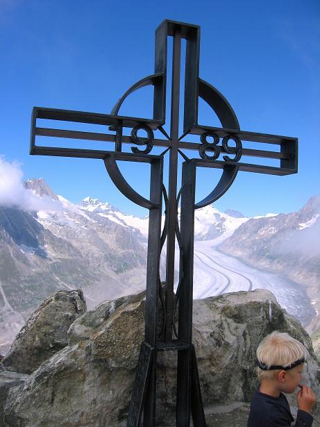Foto: Andreas Koller / Klettersteig Tour / Klettersteig Eggishorn (2927m) / Am Eggishorn / 13.09.2009 15:40:54