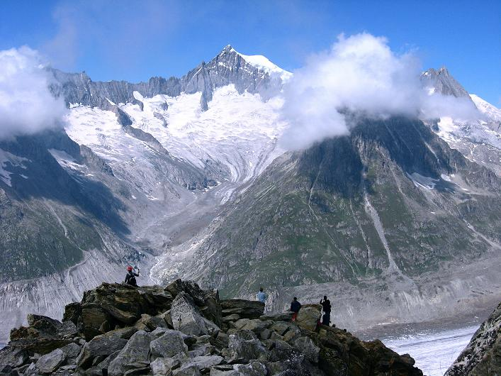Foto: Andreas Koller / Klettersteig Tour / Klettersteig Eggishorn (2927m) / Aletschhorn (4195 m) / 13.09.2009 15:40:06