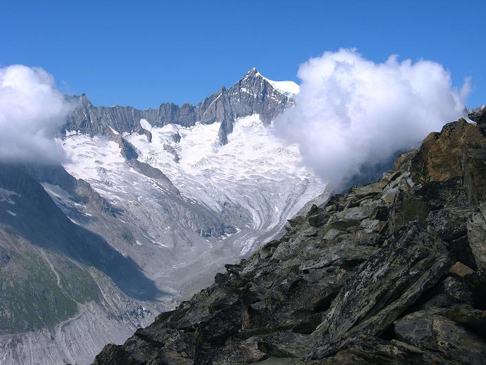 Foto: Andreas Koller / Klettersteig Tour / Klettersteig Eggishorn (2927m) / Aletschhorn (4195 m) / 13.09.2009 15:39:14