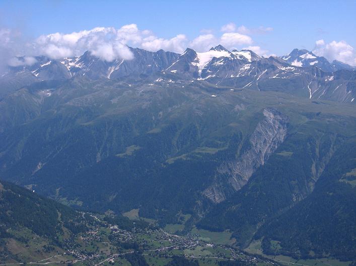 Foto: Andreas Koller / Klettersteig Tour / Klettersteig Eggishorn (2927m) / Blick ins Simplongebiet / 13.09.2009 15:38:12