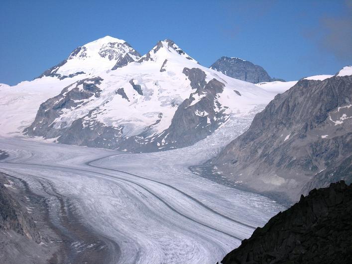 Foto: Andreas Koller / Klettersteig Tour / Klettersteig Eggishorn (2927m) / Mönch (4107 m) und Eiger (3970 m) / 13.09.2009 15:37:53