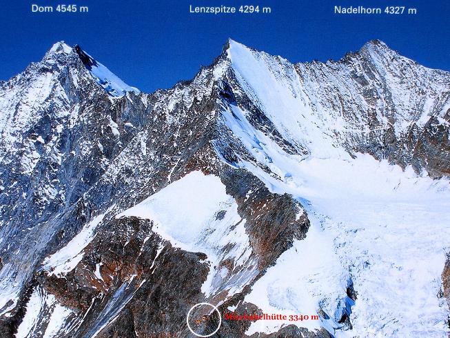Foto: Andreas Koller / Wander Tour / In die Mischabelkette: Nadelhorn (4327 m) und Ulrichshorn (3925 m) / 05.09.2009 15:49:59