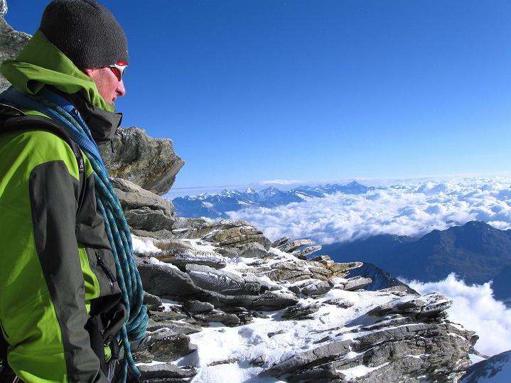 Foto: Andreas Koller / Wander Tour / In die Mischabelkette: Nadelhorn (4327 m) und Ulrichshorn (3925 m) / 05.09.2009 15:42:21
