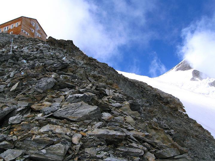 Foto: Andreas Koller / Wander Tour / In die Mischabelkette: Nadelhorn (4327 m) und Ulrichshorn (3925 m) / 05.09.2009 15:12:13