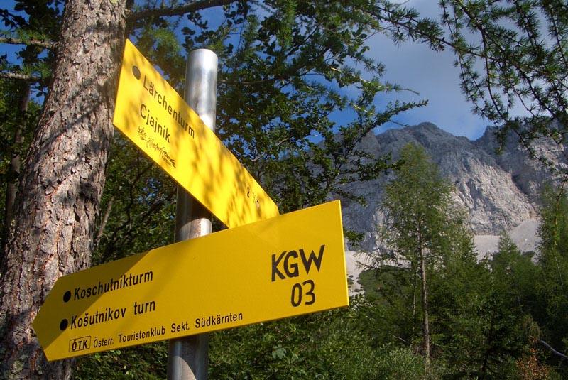 Foto: scouty_caro / Klettersteig Tour / Lärchenturm / Wegweiser / 31.08.2009 21:45:25