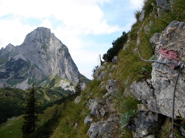 Foto: Manfred Karl / Wander Tour / Von Quehenberg auf den Schober / Kurze drahtseilgesicherte Stelle / 31.08.2009 21:18:52