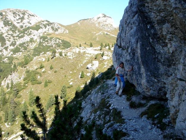 Foto: Manfred Karl / Kletter Tour / Hexenstein, Canale della Bomba a mano / Zustieg / 31.08.2009 22:28:05