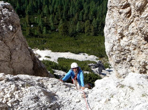 Foto: Manfred Karl / Kletter Tour / Hexenstein, Canale della Bomba a mano / Letzte Seillänge / 31.08.2009 22:27:28