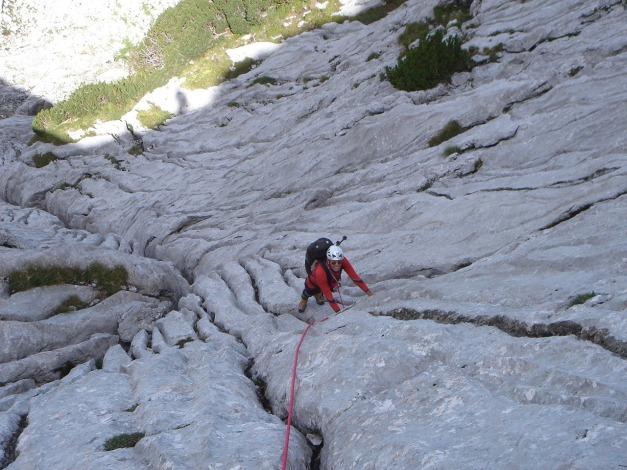 Foto: Manfred Karl / Kletter Tour / Über die Wasserrillenwelt auf das Sommereck / Eine Welt aus Wasserrillen / 31.08.2009 22:54:23