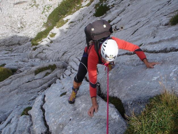 Foto: Manfred Karl / Kletter Tour / Über die Wasserrillenwelt auf das Sommereck / 31.08.2009 22:53:52