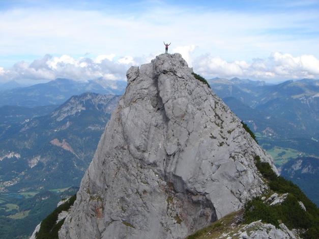Foto: Manfred Karl / Kletter Tour / Über die Wasserrillenwelt auf das Sommereck / Sommereck / 31.08.2009 22:52:42