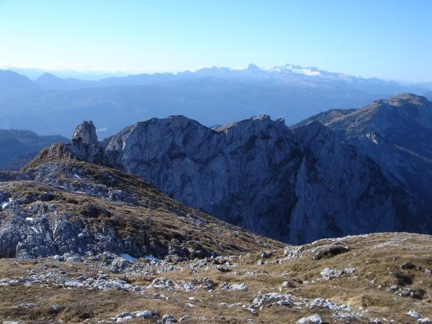 Foto: Manfred Karl / Kletter Tour / Klettern im Himmelreich / Blick zum Dachstein / 31.08.2009 23:55:17