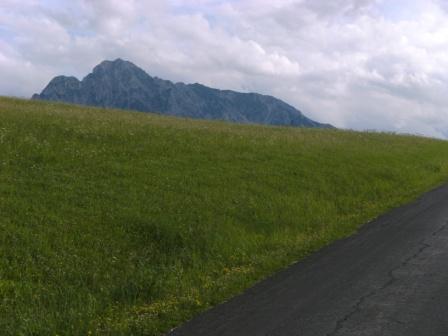 Foto: Johann P. / Mountainbike Tour / Oberwenger Panoramarunde mit Gostiztal / Bei Erreichen der Großhütte wird der Blick auf den Bosruck frei. / 02.09.2009 19:40:16