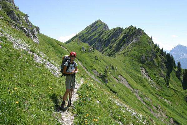 Foto: Christian Schickmayr / Wander Tour / Tannheimer Berge Überschreitung (3-Tagestour) / Am Sabachjoch / 03.09.2009 17:17:03